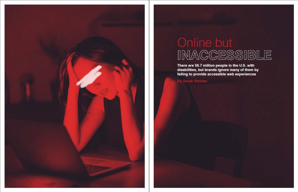 Online but Inaccessible magazine spread